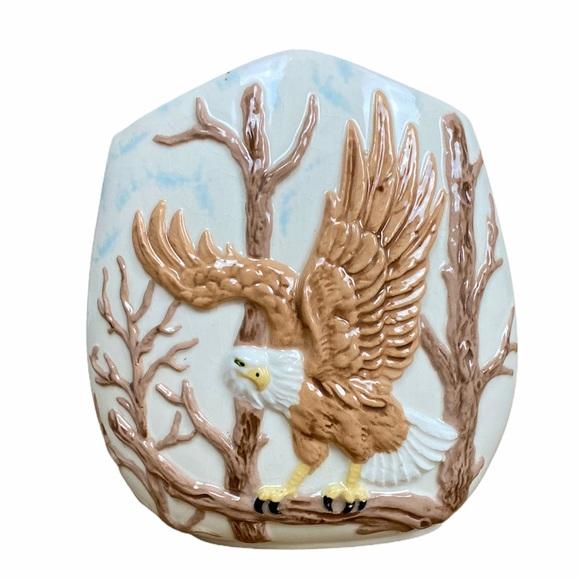 Vintage Mid Century MCM Bald Eagle Flower Vase